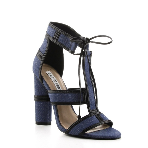 da2ea8329f916e CAPE ROBBIN like TOM FORD denim block heels